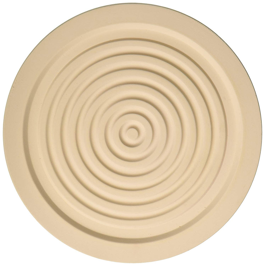 MountainStone 2 Piece Circle Absorbent Stone Trivets, Ivory, 7.1 X 7.1 X 0.5