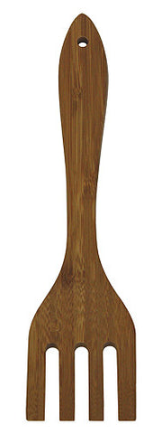 "Simply Bamboo 12"" Premium Forked Spatula"