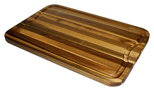 Mountain Woods 24 X 16 Marbled Acacia Cutting Board w/ Juice Groove