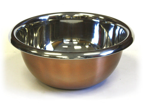Premium Stainless Steel Mixing Bowl w/ Copper Plated Exterior by ZUCCOR - 6.3 qt. / 6000 ml capacity
