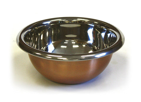 Premium Stainless Steel Mixing Bowl w/ Copper Plated Exterior by ZUCCOR - 2.8 qt. / 2700 ml capacity