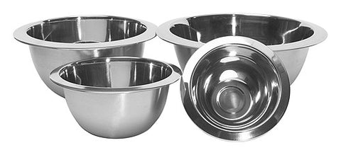 4 Piece Premium Steel Mixing Bowl Set
