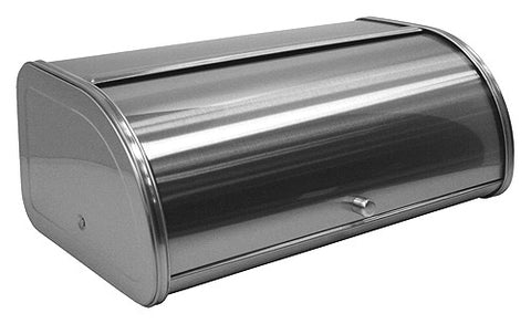 ZUCCOR Capri Fingerprint-Proof Brushed Stainless Steel Large Bread Box / Storage Box