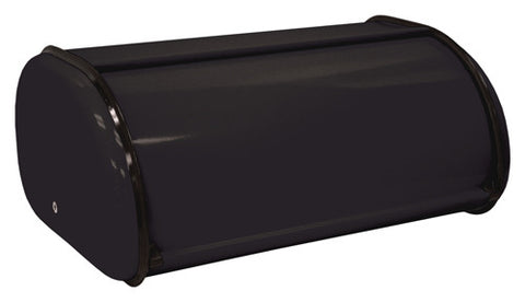ZUCCOR Black Milano Fingerprint-Proof Powder Coated Steel Bread Box / Storage Box