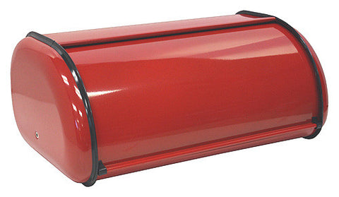 ZUCCOR Red Milano Fingerprint-Proof Powder Coated Steel Bread Box / Storage Box