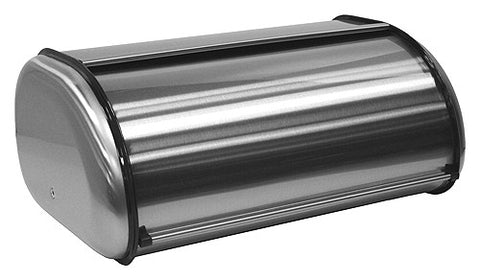 ZUCCOR Milano Fingerprint-Proof Brushed Stainless Steel Large Bread Box / Storage Box