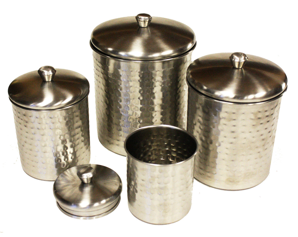 Mountain Woods 4 Piece Stainless Steel Nickle Plated Canister Set - 9''