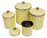 Zuccor Set of 4  Stainless Steel Yellow Sand Canister Set