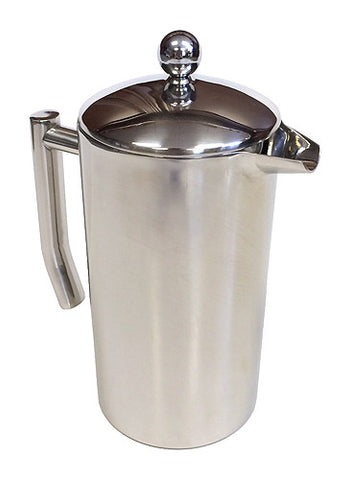 Zuccor 32 oz. Stainless Steel Capri Double Wall Coffee Press 1