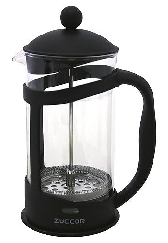 32 Oz. Genoa Heat Resistant (Borosilicate) Gourmet Coffee Press by ZUCCOR (BLACK)