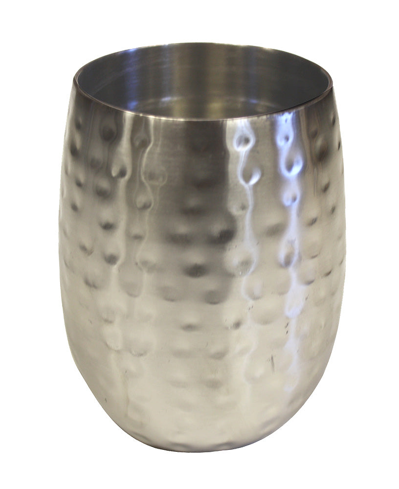 Zuccor Double Wall Hammered Stainless Steel Tumbler Satin Nickle Finish