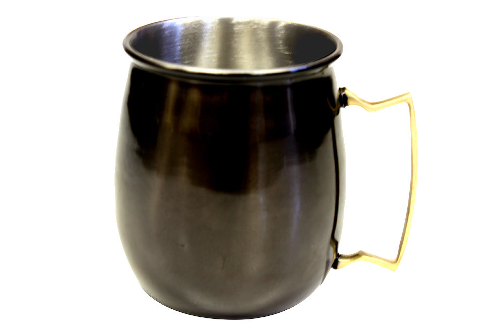 Zuccor Stainless Steel Moscow Mule Mule Mug With Black Nickle Plated Exterior