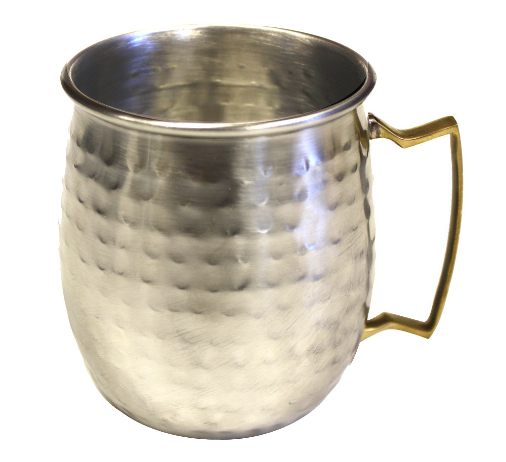 Zuccor Stainless Steel Moscow Mule Mug with Hammered Nickle Plated Exterior 1