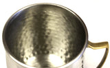 Zuccor Stainless Steel Moscow Mule Mug W/ Hammered Nickel Plated Exterior Set Of Four