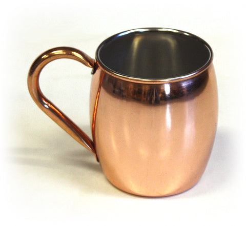 18 ounce Stainless Steel Moscow Mule Mug w/ Smooth Copper Plated Exterior by ZUCCOR