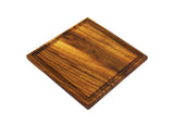 "Mountain Woods Brown Solid Teak Wood Cutting Board w/Juice Groove | Butcher Block | Wood Chopping Board | Carving Meat, Vegetables, Fruits - 13"" x 13"" x 1"""