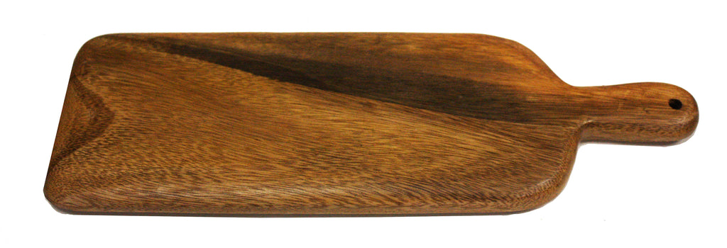 Mountain Woods Brown Casa Rustic Collection Large Rectangular Paddle Cutting & Serving Board - 16""