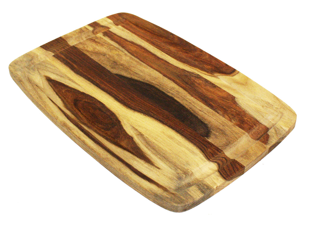 "Mountain Woods 19""X13""  Sheesham Cutting Board or Serving Tray  W/Juice Groove"