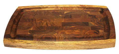 Mountain Woods Large Organic End-Grain Hardwood Acacia Cutting Board 1
