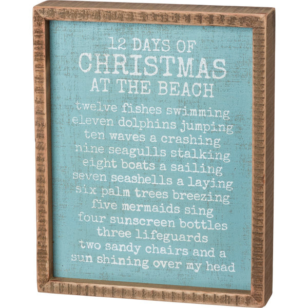 12 Days of Christmas at the Beach Box Sign