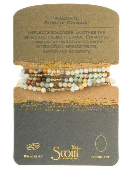 Spirit Stone Wrap Bracelet/Necklace