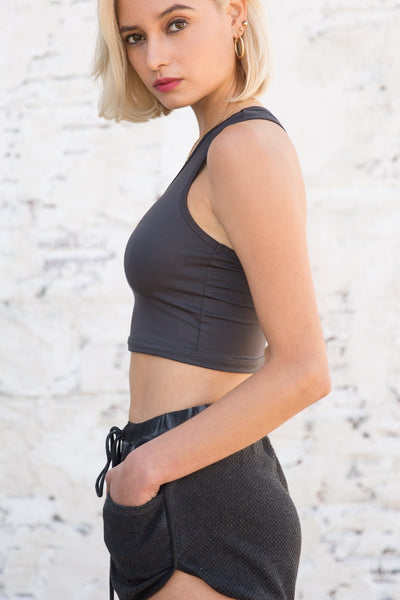 Scoop Neck Cropped Tank