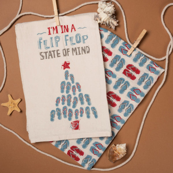 Flip Flop State of Mind Dishtowel Set
