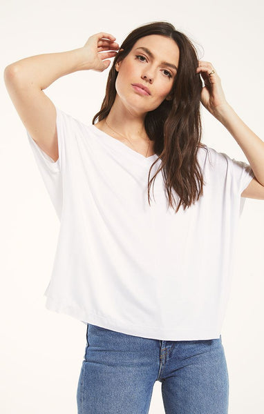 Mischa Sleek V-Neck Top