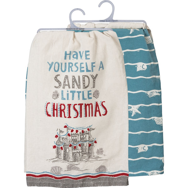 Sandy Christmas Dishtowel Set