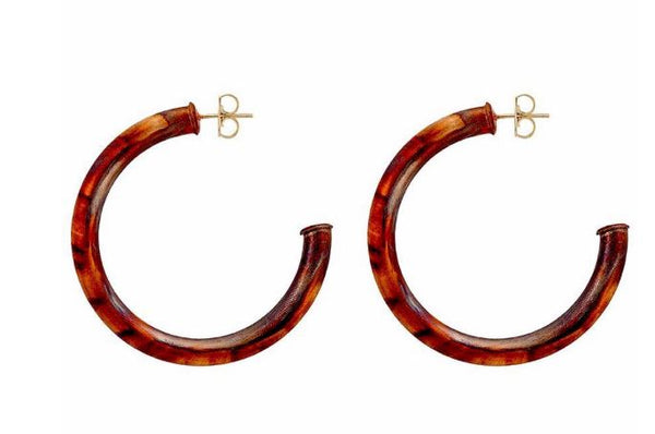 Small Burnished Everybody's Favorite Hoop Earrings by Sheila Fajl