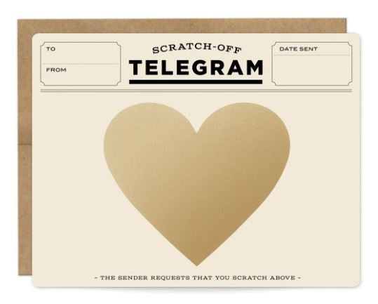 Telegram Scratch-off Card