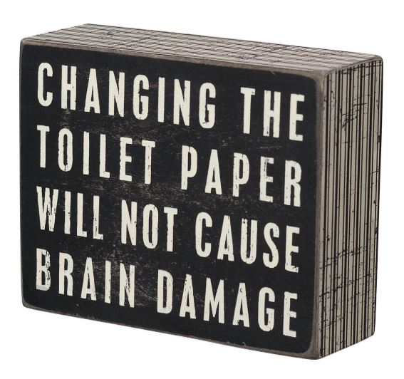 Toilet Paper Box Sign