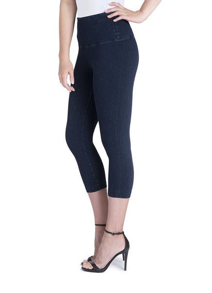 Control Denim Capri Legging by Lysse