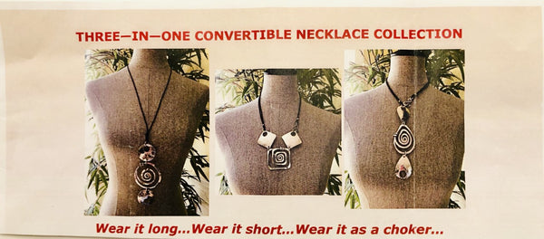 Convertible Long Spiral Square Necklace by The Artist Jay