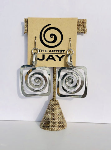 Square Curl Earring by The Artist Jay