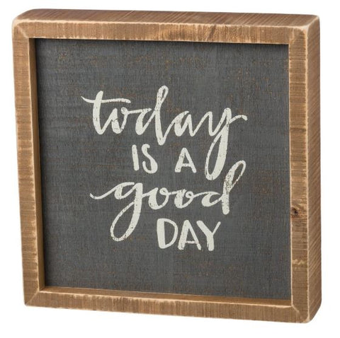 Good Day Inset Box Sign