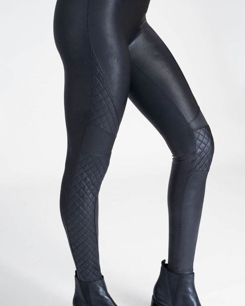 Faux Leather Quilted Leggings by Spanx