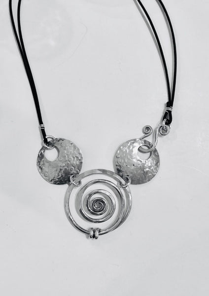 Convertible Long Spiral Circle Necklace by The Artist Jay