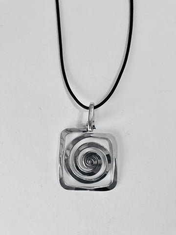 Square Curl Necklace by The Artist Jay
