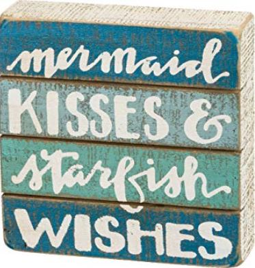 Starfish Wish Slat Box Sign