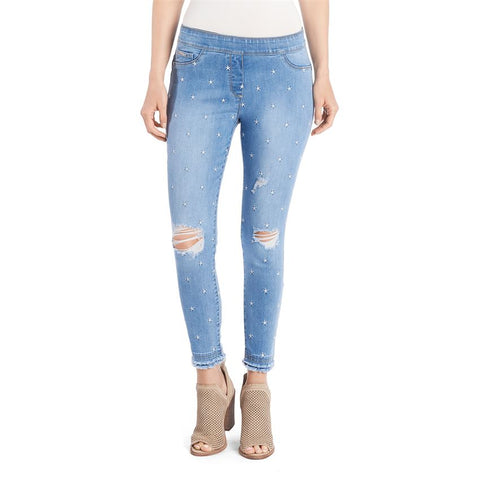 Star Embroidered Jean by OMG