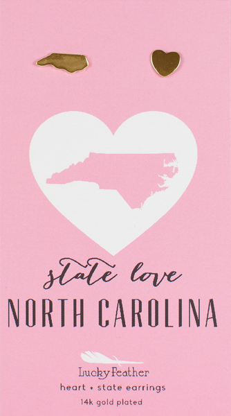 North Carolina Cut Out Earrings