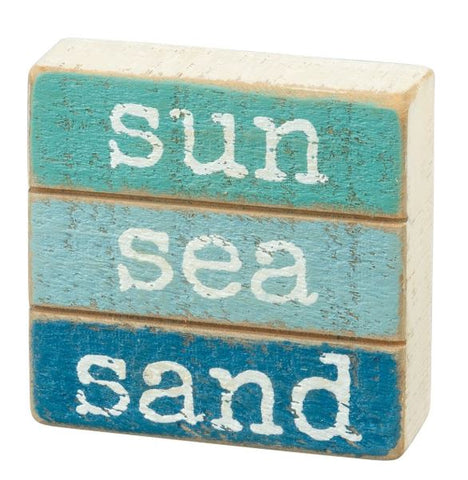 Sun Sea Sand Slat Box Sign