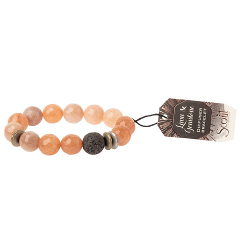Lava and Gemstone Diffuser Bracelet