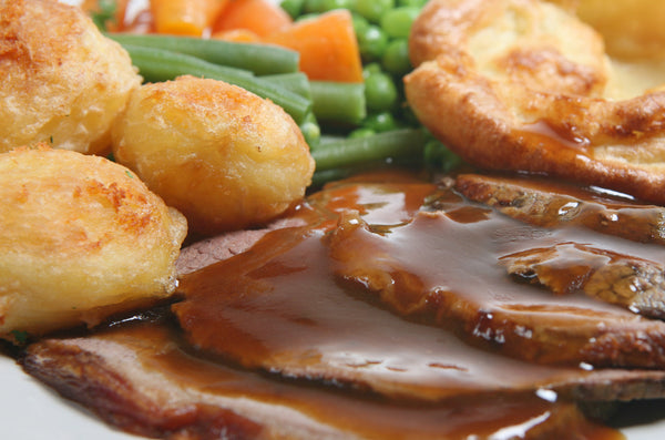 Sliced Roast Beef with Gravy