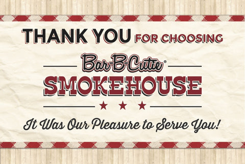 Catering Thank You Card (one sided) – Bar-B-Cutie