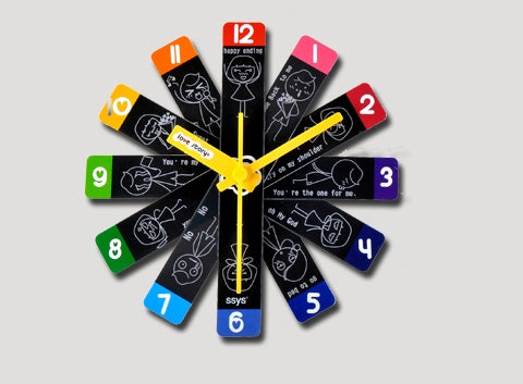 Infomation Symmetry Cool Stuffs Blog » Love Story Small Wall Clock