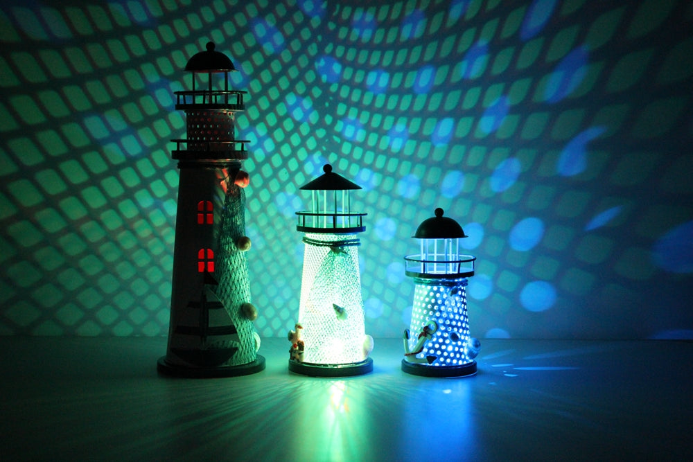 Color Changing Led Lantern Lighthouse Night Light Infmetry