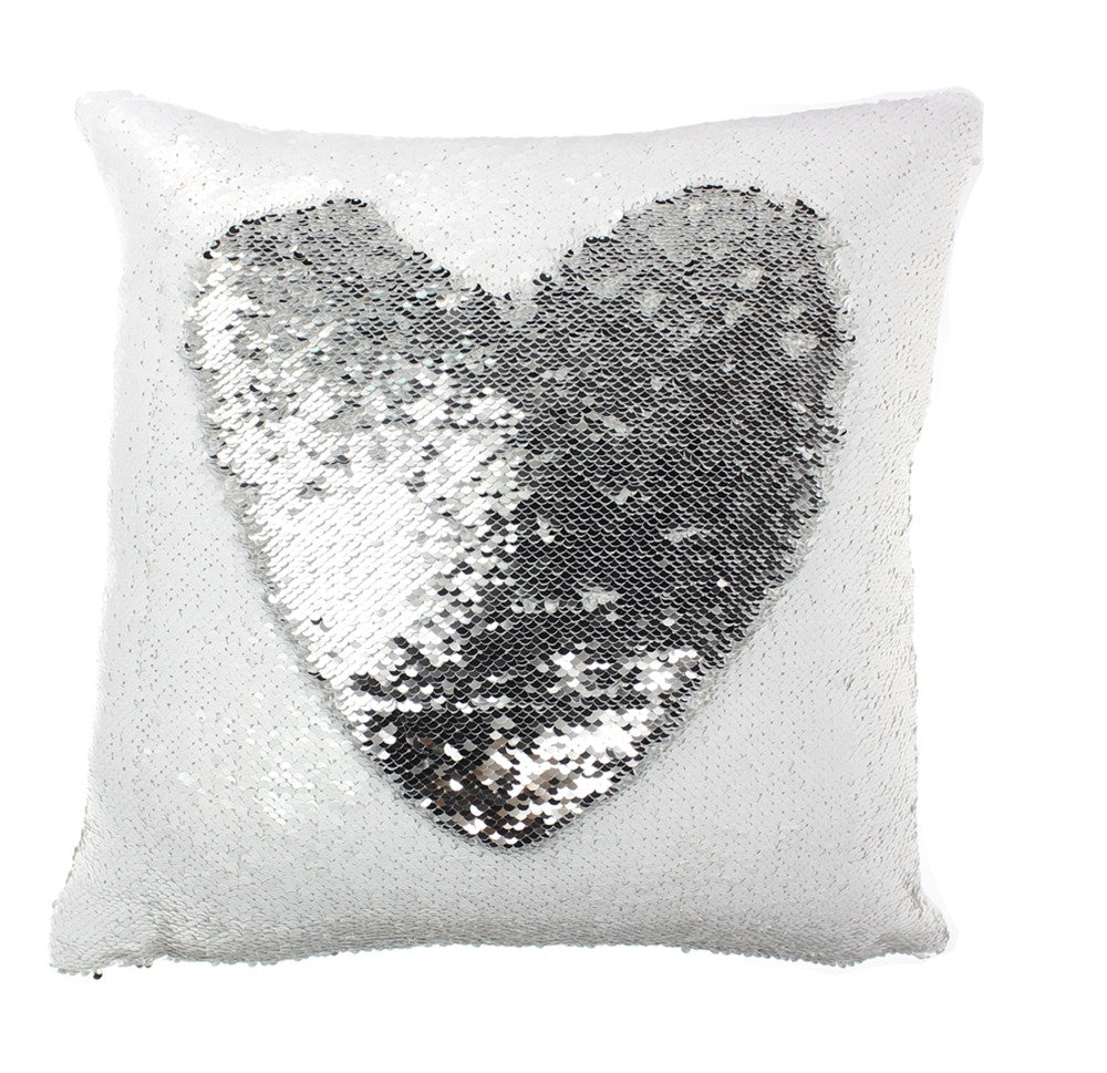 Mermaid Sequin Throw Pillows Drawing Decorative Cushion - INFMETRY