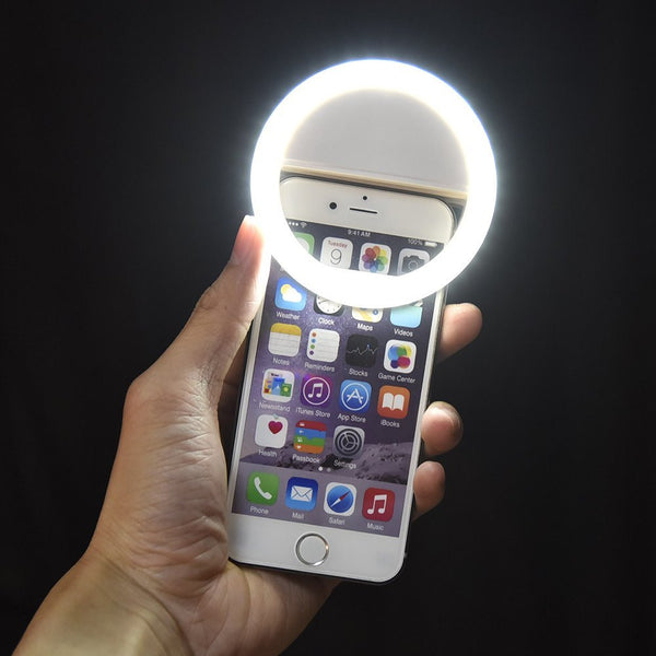 LED Ring Selfie Light for Smartphones